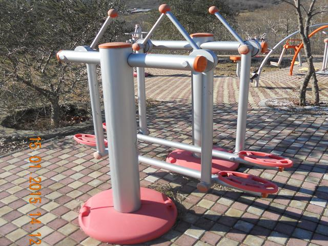 Body extension gym machine and air walker two persons photo